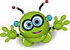 Netter grüner Roboter