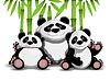 Familie von Panda