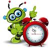 Векторный клипарт: Робот и будильник