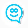glückliches Lächeln Sprechblase