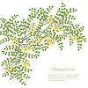 Векторный клипарт: Весна карта с абстрактными