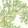 Векторный клипарт: шаблон с абстрактными листьев