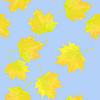 Векторный клипарт: с золотой осенних листьев