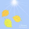 Векторный клипарт: листья на небо