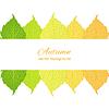 Векторный клипарт: осенние листья на белом фоне
