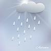 Векторный клипарт: с дождем и облака