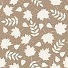 Векторный клипарт: осенние листья на картонной фоне