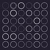 Векторный клипарт: шаблоны круг орнамент