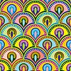 Векторный клипарт: Цвет буддийские seamles
