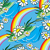 ID 4544234 | Seamless vector background with spring rainbow and | Klipart wektorowy | KLIPARTO