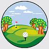 Векторный клипарт: гольф эмблема