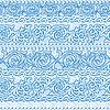 Векторный клипарт: морозная зима орнамент