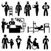 Векторный клипарт: Люди Медицина иконки