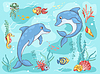Zwei Delphine im Meer