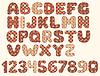 Weinlese-Patchwork-Alphabet