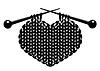 Silhouette von strickendes Herz | Stock Vektrografik