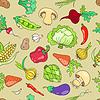 Nahtlose Muster mit Gemüse