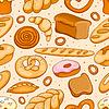 Nahtlose Muster mit verschiedenen Brot