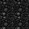 Pirate nahtlose Muster Weiß auf Schwarz
