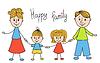 Nette doodle Familie