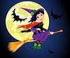 Hexe und Katze fly