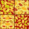 Vier Herbst nahtlose Muster