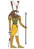 Isoliert Bild des alten Ägypten Gott