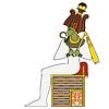 Osiris, isolierte Figur des alten Ägypten Gott
