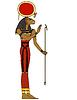 Sekhmet, ägyptisch altes Symbol, isoliert Abbildung von a