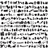 ID 4518856 | Satz von Silhouetten symbolisieren Winter | Stock Vektorgrafik | CLIPARTO