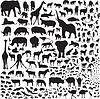 alle Tiere von Afrika