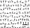 Satz von Silhouetten der Rhythmischen Sportgymnastik