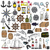 Marine handbemalt Symbole