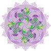 Keltische Symbole Ornament mit Blumen Distel und