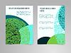 Abstrakte blaue und grüne Broschüre Flyer Design