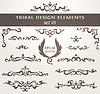 Векторный клипарт: Набор элементов дизайна в племенном стиле. Коллекция
