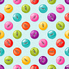 Векторный клипарт: Бесшовные шаблон с милой красочные кнопки.
