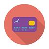 Kreditkarte einzigen flachen icon
