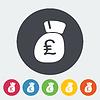 Britisches Pfund flach icon