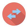Векторный клипарт: Значок стрелки