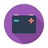 Векторный клипарт: Аккумулятор разряжен значок
