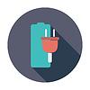 Векторный клипарт: Зарядка аккумулятора, один значок