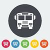 Векторный клипарт: Автобус значок