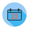 Векторный клипарт: Календарь плоский значок