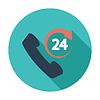 Векторный клипарт: Поддержка 24 часа