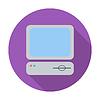 Векторный клипарт: Компьютер плоский значок