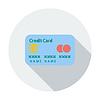 Векторный клипарт: Кредитная карточка одной плоской значок