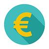 Векторный клипарт: Евро значок