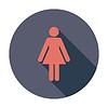 Векторный клипарт: Женский пол знак