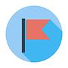 Векторный клипарт: Флаг одной плоской значок